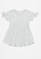 POP CANDY - Girls printed tie sleeve dress - grey
