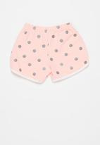 POP CANDY - Girls printed shorts - pink & silver