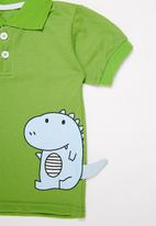 POP CANDY - Dino tee & shorts set - green & black