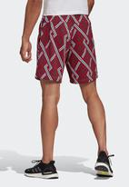 adidas Performance - All over print  shorts  - multi