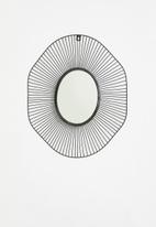 Sixth Floor - Hand made wire mirror - black