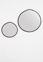 Sixth Floor - Irregular mirror set of 2 - black