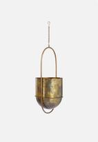 Sixth Floor - Hanging flower pot - brass