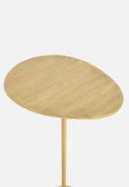 Sixth Floor - Ova side table - gold