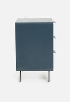 Sixth Floor - Oliver 3 drawer storage - blue
