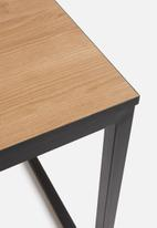 Sixth Floor - Floating top dining table - neutral & black