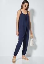 edit - Oversized woven jumpsuit - navy