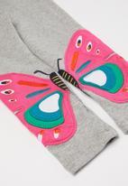 POP CANDY - Girls butterfly leggings - grey