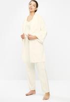 Superbalist - Linen sleep robe - Cream