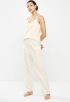 Superbalist - Linen sleep cami & pants set - Cream