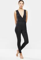 Missguided - Sleeveless loungewear jumpsuit - black