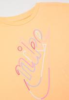 Nike - Nike break short sleeve boxy top - orange