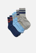 Cotton On - Kids 3pk crew sock - multi