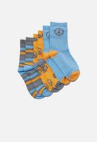 Cotton On - Kids 3pk crew sock - multi