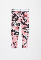 Nike - Tokyo floral all over print legging - pink & black