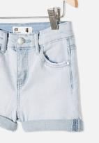 Cotton On - Camilla denim short - bleach wash