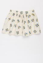 Sticky Fudge - Girls umbrellas button skirt - multi