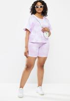 Blake - Knit cycling shorts - tie dye purple