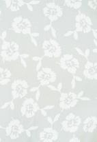Blake - Button down mini dress - sage & ivory floral