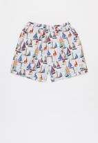 Sticky Fudge - Boys boats shorts - multi