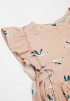 Sticky Fudge - Storks party dress - pink