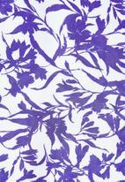 edit Plus - Plus raglan flutter sleeve blouse - gentle blue floral