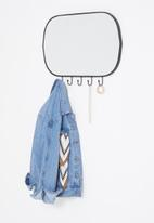 Sixth Floor - Clea oval hook mirror - black