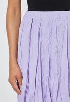 Superbalist - Crushed midi skirt - lilac