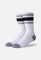 Stance Socks - Boyd st socks - white & grey