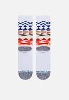 Stance Socks - Warrior print socks - white