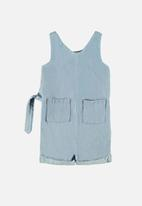 name it - Agness sleeveless denim playsuit - blue