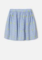 name it - Jilly stripe skirt - colony blue
