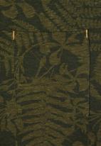name it - Exotic leaf print tee - green