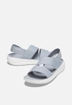 Crocs - Literide stretch sandal - light grey & white