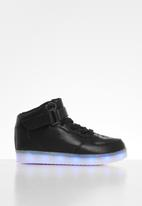 POP CANDY - Hi-top light up sneaker / black
