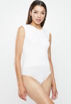 VELVET - Muscle open back bodysuit - ivory