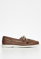 Grasshoppers - Timbego boat leather - natan tan