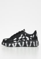 UrbanArt - Hype 2 sneaker - black & silver