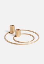Sixth Floor - Centric candle holser set of 2 - gold