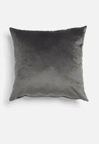 Hertex Fabrics - Outdoor velvet cushion cover - graphite