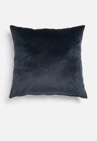 Hertex Fabrics - Outdoor velvet cushion cover - navy