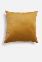 Hertex Fabrics - Outdoor velvet cushion cover - dijon