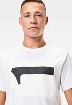 G-Star RAW - 3d no.1 logo+ r short sleeve tee - white