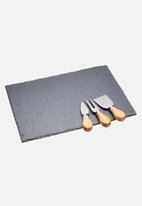 Kitchen Craft - Artesà slate cheese platter set- charcoal