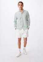 Cotton On - Linen cotton long sleeve shirt - jade
