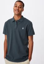 Cotton On - Essential short sleeve polo - forest green