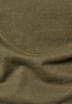 G-Star RAW - Korpaz mock r long sleeve tee - olive