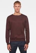 G-Star RAW - Premium core r long sleeve sweat - burgundy