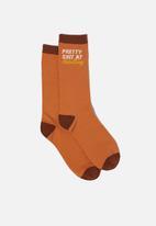 Typo - Mens novelty socks - orange