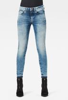 G-Star RAW - 3301 mid skinny rp ankle - vintage beryl blue